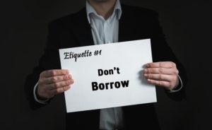 Evoma coworking Bangalore etiquette 1 - Don't borrow