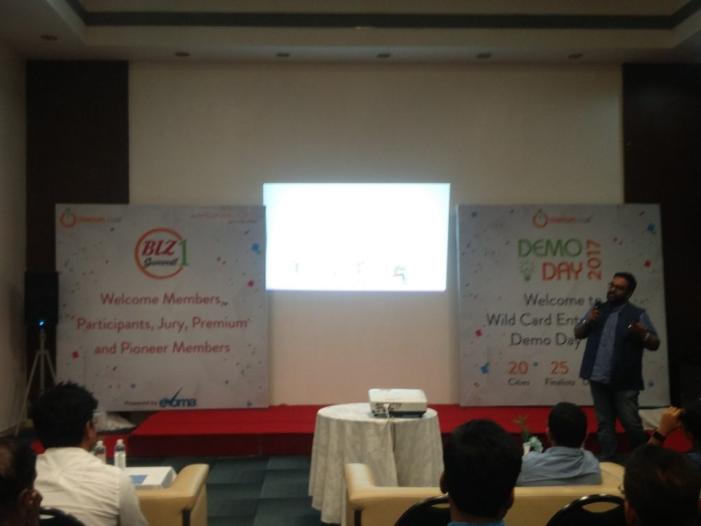 Pitchdecks at Evoma Biz Summit in Bangalore