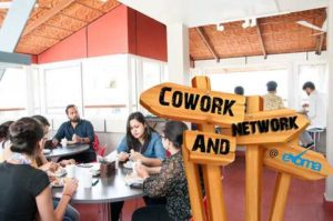 Networking at Evoma coworking space
