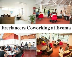 Freelancers coworking at Evoma