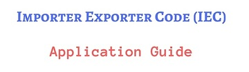 IEC Import Export License application