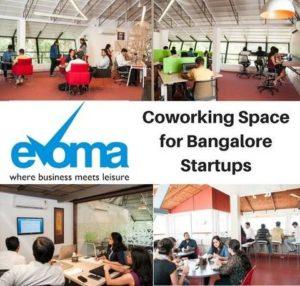 Evoma coworking space Bangalore startups