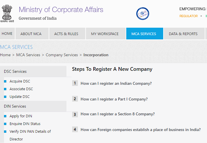 how to register a new company